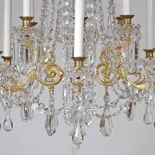 scandinavian cut glass and crystal chandelier with 12 lights circa 1880