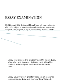 essay examination educ test assessment essays