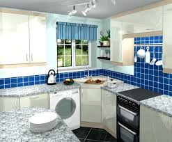 Blue Kitchen Designs Interesting Decoration Blue Kitchen Tiles Wall Decoration Tile Small Set Up