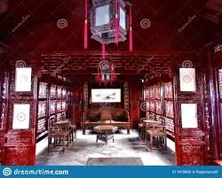 Chinese Art Interior Design Ancient Red House In Shanghai China Art History