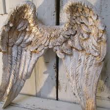 angel wings wall decor shabby cottage inspired distressed white