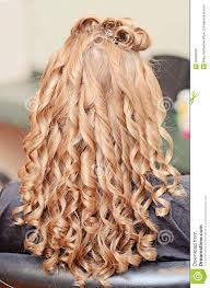 Pin Curl Hair Style curly hair styling stock photo image 32666830 4020 by stevesalt.us