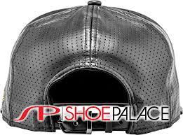 bowl 50 new era x shoe palace collaboration mens strapback hat leather black gold silver