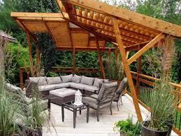 contemporary deck shade ideas wooden