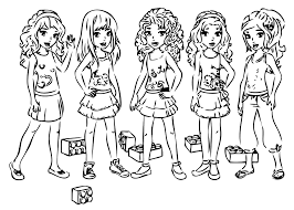 Small Picture Lego Friends Coloring Pages jacbme