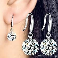 cubic zirconia chandelier earrings 8 cubic women drop earrings sterling silver las dangle chandelier earrings for