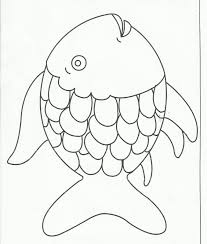 rainbow fish coloring pages rainbow fish outline on good cartoon rainbow fish coloring page with