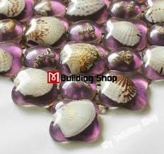 resin shell mosaic glass wall tile kitchen backsplash rnmt064 purple glass mosaic for bathroom wall