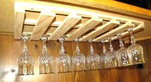 wooden wine glass holder full size of wood rack shelf cabinet stemware storage under home furniture