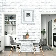 home decor wallpaper white brick wall