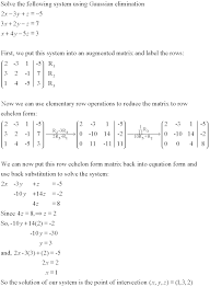 gaussian elimination pictures embed systems of equations substitution method worksheet