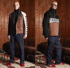 dsquared2 2018 pre fall autumn mens lookbook presentation outdoorsman denim jeans panels distressed outerwear coat