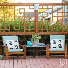 Deck railing ideas Outdoor Update The Traditional Lattice Better Homes And Gardens Deck Railing Ideas