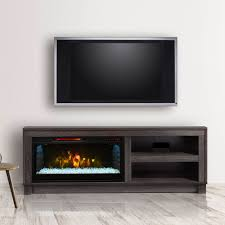 fireplace tv stand black and muskoka domus electric flat
