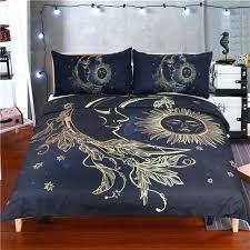 3 pieces gold moon sun duvet cover sheet bedding set and canada