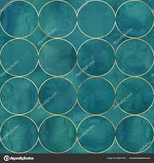 Abstract Watercolor Background Dark Teal Color Circles