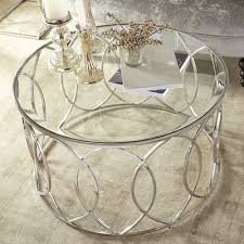 incredible round silver coffee table gallery observatoriosancalixto best of