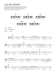 Lay Me Down Chord Chart Sheet Music Digital Files To Print Licensed Soul Digital