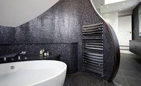 spa feel like bathroom tiles and towel warmer