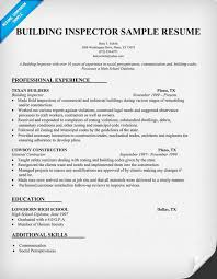 building inspector resume httpresumecompanioncom building inspector resume