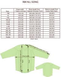 Reebok Hockey Jersey Sizing Chart Youth Reebok Youth Nfl Jersey Size Chart