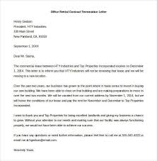 Contract Termination Letter Template 20 Free Sample Example For