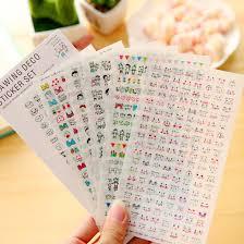 6pcs kawaii drawing pvc transpa organizer calendar diary book planner sticker sbook decoration papeleria