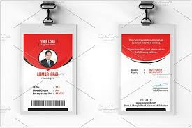 Id Cards Template 25 Top Vertical Id Card Templates Designs Psd Ai Eps