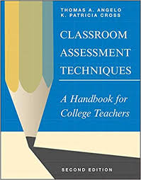 Lecture Evaluation Form Fascinating Classroom Assessment Techniques A Handbook For College Teachers