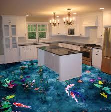 Epoxy Flooring 3d Designs 3d Epoxy Flooring For Kitchen Koi Fish Pond Theme Epoxy