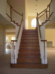 Painted Wood Stairs Wooden Stairs Railing Stair Design Ideas
