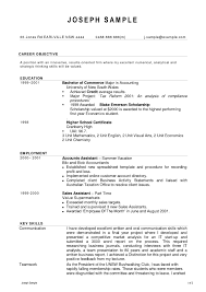 Sample Resume For Australian Jobs