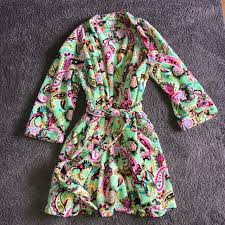Vera Bradley Tutti Frutti Fleece Robe Size S M