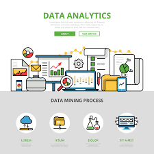 Linear Flat Business Data Analytics Infographics V Stock ...