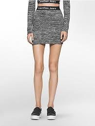 Heathered Logo Band Mini Skirt Uk Calvin Klein Calvin