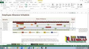 Employee Absent Employee Absence Schedule Tutorial Excel 2013