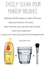 clean makeup brushes an inexpensive easy way to remove grime and clean your makeup