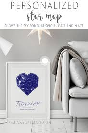 Birthday Sky Chart Your Personal Night Sky Map Star Sign Print Map On Wood