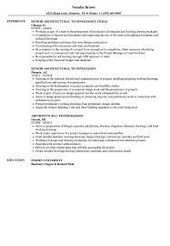 Download Architectural Technologist Resume Sample as Image file