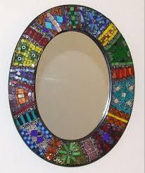 Idea for a mosaic mirror frame