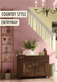 Foyer Wall Colors Give Your Foyer A Feminine Country Feel With A Light Pink Behr