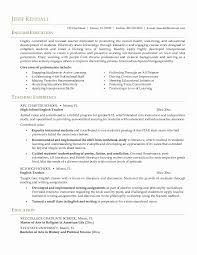 Sample Resume Eglish Teacher Elegant Esl Teacher Resume Samples