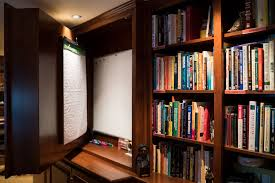 whiteboard for home office. Home Office Cabinetry Hidden Whiteboard In Custom For