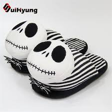 House Shoe Size Chart Us 11 83 30 Off Suihyung Winter Home Slippers Funny Ghost Shape Unisex Indoor Shoes House Bedroom Soft Bottom Flat Slippers Women Men Slippers In