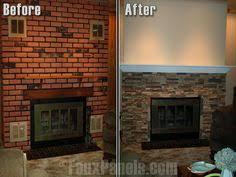 15 Gorgeous Painted Brick Fireplaces  HGTVu0027s Decorating U0026 Design Cleaning Brick Fireplace Front