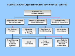 Group Chart Business Group Organization Chart November 08 June 09
