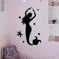 wall decal mermaid stickers under the from fabwalldecals