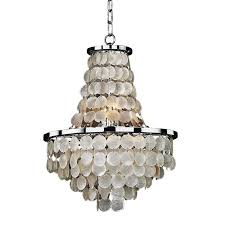 glow lighting chandeliers. Photo 1 Of 12 Charming Glow Lighting Chandeliers #1 Bayside 8- Light Capiz Shell And Chrome E
