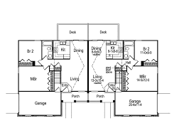 Brooktree Duplex Home Plan D    House Plans and MoreRanch House Plan First Floor   D    House Plans and More