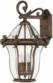 hinkley 2444cb san clemente 3 light 21 inch outdoor wall sconce in copper bronze loading zoom